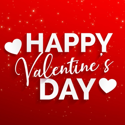 happy valentine's day red background