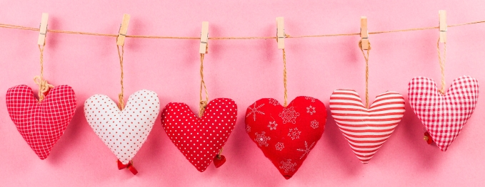 Happy Valentines day and heart. Card with Happy Valentines day a