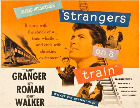 Strangers on a Train poster