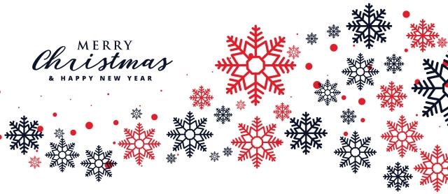 stylish snowflakes background for christmas holiday season