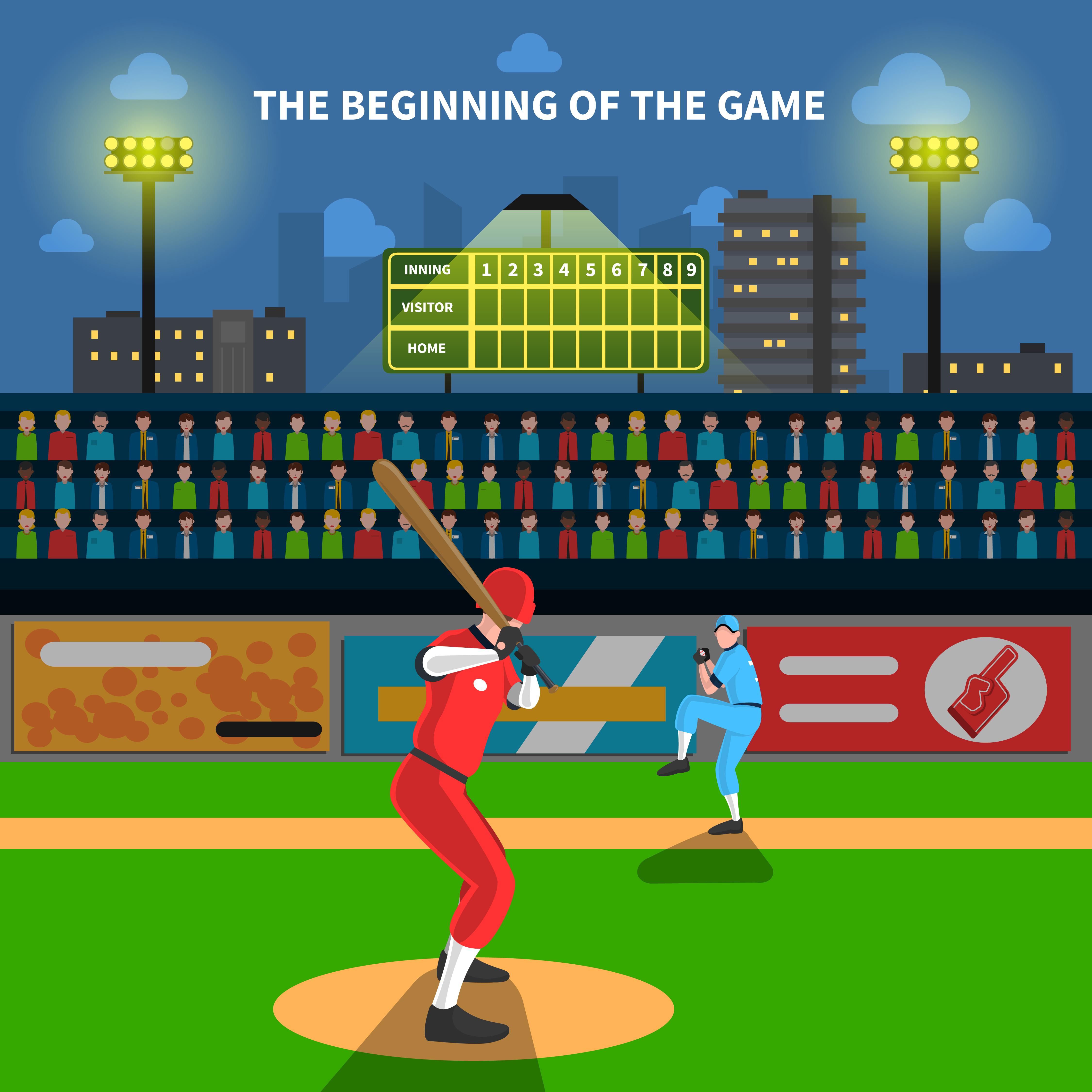 Baseball game illustration