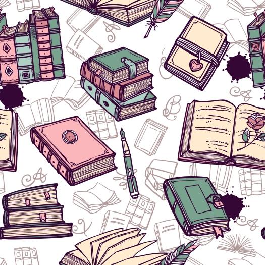 Books Seamless Pattern