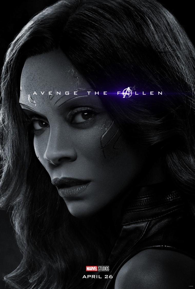 Avengers Endgame Gamora poster