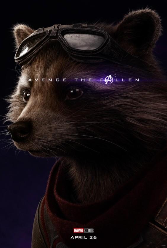 Avengers Endgame Rocket poster