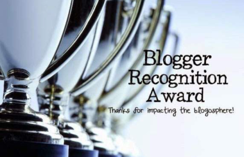 Blogger Recognition Award banner