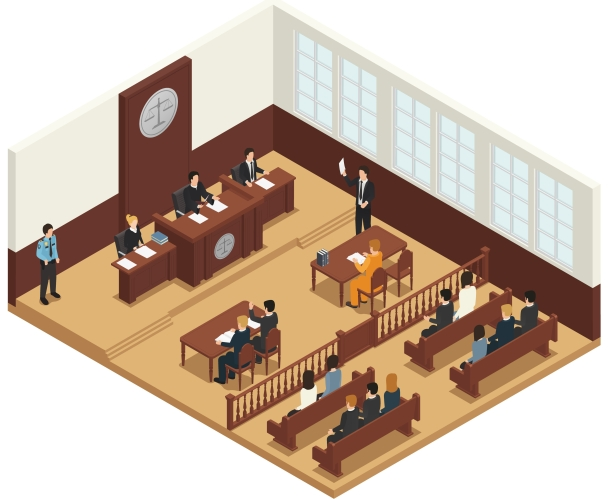 Law Justice Isometric Composition Icon