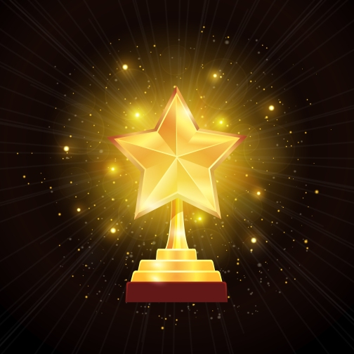 Award Gold Star Background Illustration