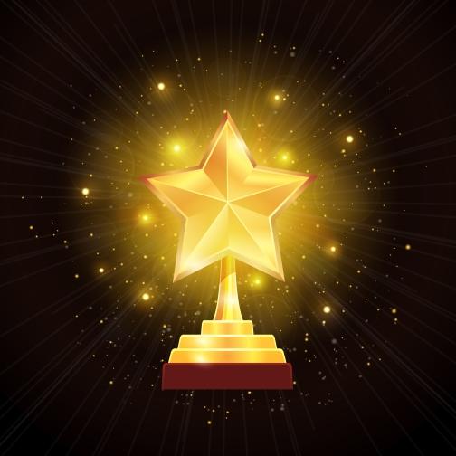 Award Gold Star Background Illustration
